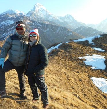 Rupak et Marie-Claire à Mulde view point