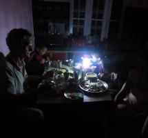 Ambiance nocturne pendant une coupure de courant
