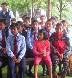 ( 2014) les élèves assistent au spectacle de danses traditionnelles