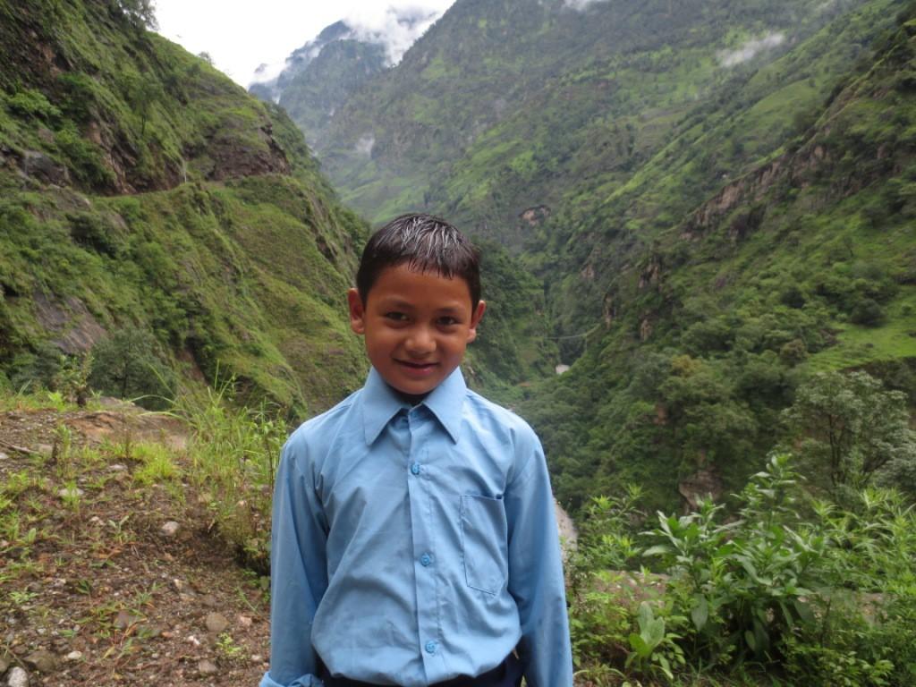 Ajay en route pour l'école Fewa de Pokhara