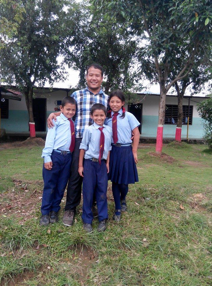 Krishna avec les 3 enfants