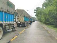 Blocus à la frontière indienne