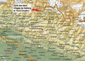 Zone des deux villages de Gatlang et Thulo Shyabru